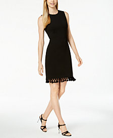 Calvin Klein Petite Tassel-Hem Sheath Dress