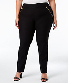JM Collection Plus Size Straight-Leg Pants, Created for Macy's