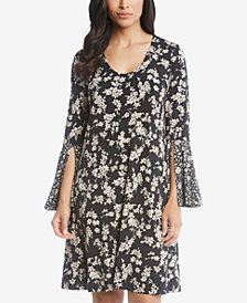 Karen Kane Taylor Floral-Print Split-Sleeve Dress