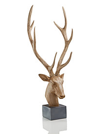 Holiday Lane Deer Head Table Decor, Created for Macy's