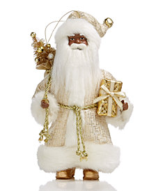 Holiday Lane Santa with Gift & Tree Ornament, Created for Macy's