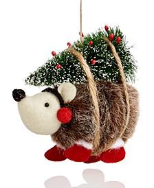 Christmas Cheer Gedgehog with Christmas Tree Ornament Created For Macy's