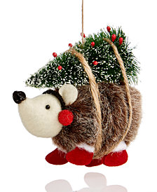 Holiday Lane Hedgehog with Tree Ornament, Created for Macy's