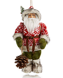 Holiday Lane Forest Santa Ornament, Created for Macy's