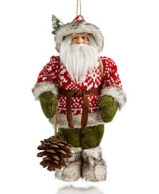 Holiday Lane Christmas Cheer Forest Santa Ornament Created For Macy's