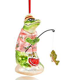 Holiday Lane Fishing Crocodile Ornament, Created for Macy's