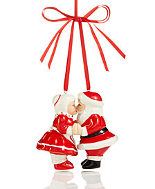 Holiday Lane Kissing Mr. & Mrs. Claus Ornament, Created for Macy's