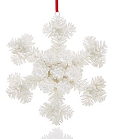 The Holiday Collection White Snowflake Ornament Created for Macy's