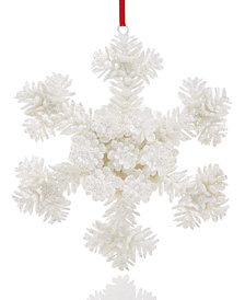 Holiday Lane White Snowflake Ornament, Created for Macy's