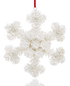 Holiday Lane Upstate White Snowflake Ornament Created For Macy's