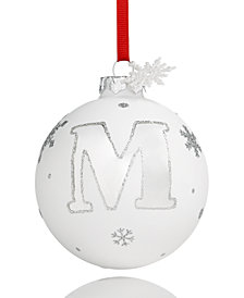 Holiday Lane Initial 'M' Ball Ornament, Created for Macy's