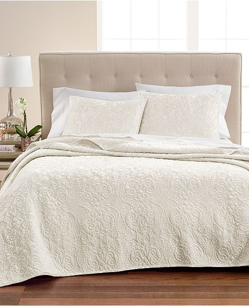 Martha Stewart Collection Velvet Flourish Full Queen Quilt