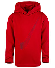 Nike Toddler Boys Dri-FIT Swoosh Graphic-Print Hoodie
