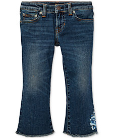 Polo Ralph Lauren Little Girls Kick-Flare Crop Jeans