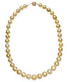 "Baroque Golden South Sea Pearl (9mm) Strand 18"" Collar Necklace"
