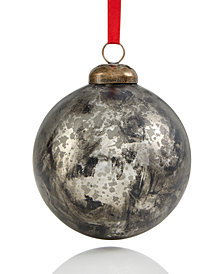 Holiday Lane Glass Mercury Silver Ball Ornament with Indian Cap, Created for Macy's