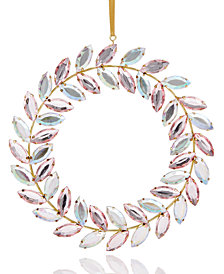 Holiday Lane Bejeweled Wreath Ornament, Created for Macy's