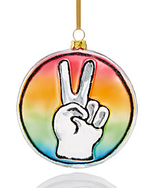 Holiday Lane Peace Sign Ornament, Created for Macy's