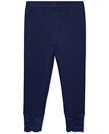 Polo Ralph Lauren Little Girls Lace-Cuff Jersey Leggings