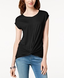 I.N.C. Twist-Front Top, Created for Macy's