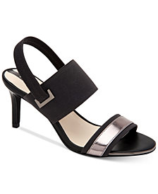 Alfani Women's Genevia Elastic Dress Sandals, Created For Macy's