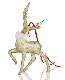 Holiday Lane Glitter Deer Ornament, Created for Macy's