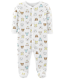Carter's Baby Boys & Girls Animal-Print Thermal Footed Cotton Coverall
