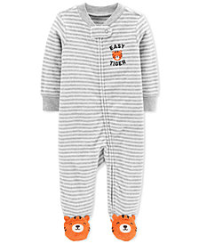 Carter's Baby Boys Easy Tiger Striped Footed Coverall