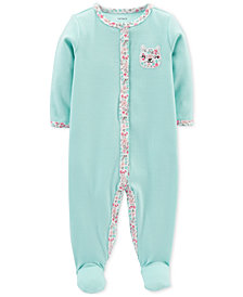 Carter's Baby Girls Bear Footed Coverall