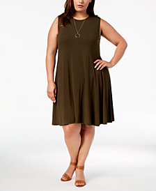 Style & Co Plus Size Swing Dress, Created for Macy's