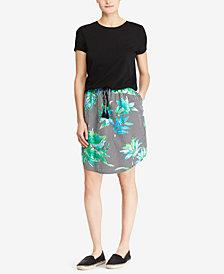 Lauren Ralph Lauren Petite Printed Contrast Shirtdress