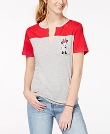 Love Tribe Juniors' Colorblocked Minnie-Graphic T-Shirt