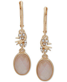 lonna & lilly Gold-Tone Crystal & Stone Double Drop Earrings
