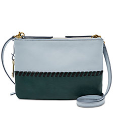 Fossil Devon Colorblock Leather Crossbody