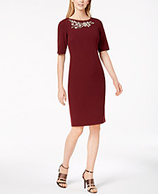 Calvin Klein Embellished Sheath Dress