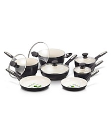 RIO 12-Pc. Ceramic Non-Stick Cookware Set