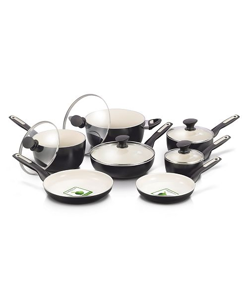 GreenPan RIO 12-Pc. Ceramic Non-Stick Cookware Set