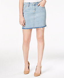 Articles of Society Stacy Cotton Raw-Hem Denim Skirt