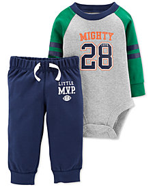 Carter's Baby Boys 2-Pc. Cotton Mighty 28 Bodysuit & Pants Set