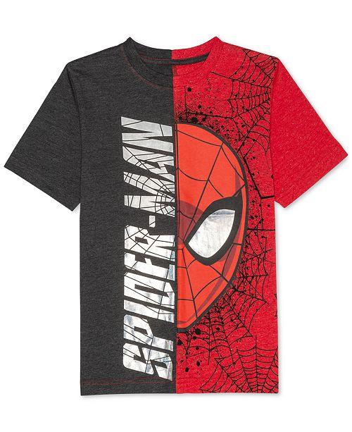 c979eb7a Marvel Big Boys Spider-Man Graphic-Print T-Shirt & Reviews - Shirts ...