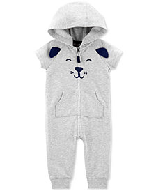 Carter's Baby Boys Dog Hooded Cotton Coverall