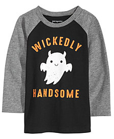 First Impressions Baby Boys Handsome-Print T-Shirt, Created for Macy's