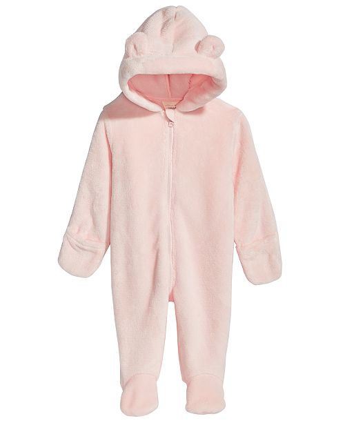 6691f62471a4 First Impressions Baby Boys   Girls Hooded Faux-Fur Footed ...