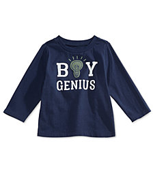First Impressions Baby Boys Genius-Print Cotton T-Shirt, Created for Macy's