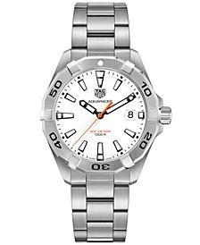 Men's Swiss Aquaracer Stainless Steel Bracelet Watch 41mm