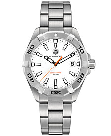 TAG Heuer Men's Swiss Aquaracer Stainless Steel Bracelet Watch 41mm