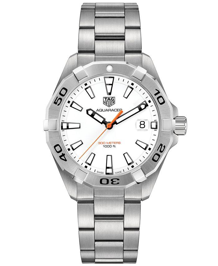 TAG Heuer - Men's Swiss Aquaracer Stainless Steel Bracelet Watch 41mm