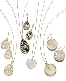 Mother-of-Pearl & Decorative Overlay Jewelry Collection in 14k Gold