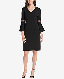 Jessica Howard Petite Bell-Sleeve Shift Dress