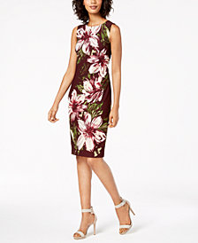 Calvin Klein Floral-Print Sheath Dress, Regular & Petite